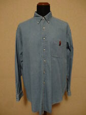 Polo Ralph Lauren Bear Denim Pocket Shirt - XL Camicia Jeans Botton Down Blaire
