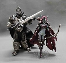 WOW WORLD WARCRAFT LICH KING ARTHAS MENETHIL FORSAKEN QUEEN SYLVANAS FIGURES TOY