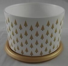 Tupperware Bingo Dose 575 ml Tannenbäume Baum One Touch Kaffeedose Gold Neu OVP
