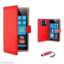 WALLET PU LEATHER CASE COVER FOR Nokia Lumia 520  FREE SCREEN PROTECTOR
