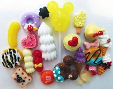 DIY 20 PCS 3D Mixed Sweets Deco Dessert Cabochon Mix Cute Resin Deco Kit J35