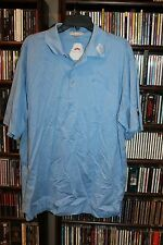 Peter Millar Titleist Footjoy Golf Polo Shirt Light Blue  L   (bin77)