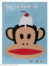 PAUL FRANK INIVTATIONS & THANK YOU NOTES (8) ~ Birthday Party Supplies Invites