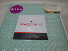 New Happy Chic by Jonathan Adler AZTEC GEO Full Sheet Set ~  Mint & White NIP