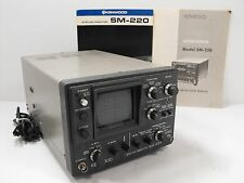 Kenwood SM-220 Station Monitor Good Condition w/ Original Manual, BS-8 (Works)