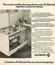 Publicité 1975  DE DIETRICH  cuisinière