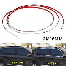 2 x 2m Silver Car Grille Exterior Chrome Styling Decor Moulding Trim Strip 6mm