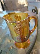 Large Marigold Carnival Glass Pitcher