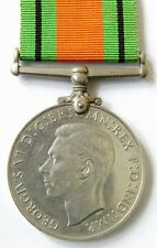 100% Genuine Great Britain WW2 DEFENCE MEDAL 1939-1945 Full Size + Ribbon