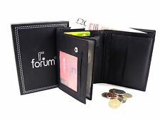 MENS NEW HIGH QUALITY SOFT BLACK REAL LEATHER WALLET CREDIT CARD HOLDER BOXED 79