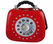 Telephone shaped novelty ladies handbag / shoulder bag