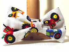 BOY  PAGEBOY WEDDING DICKIE BOW TIE - TRACTORS FARMING