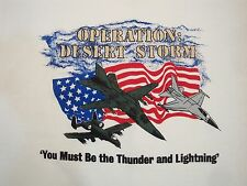 Vintage Operation Desert Storm Support our Troops Military Air Force T Shirt L