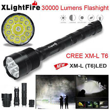 38000LM 18650 XLightFire XM-L T6 LED 5-Mode Flashlight Super Bright Torch Light
