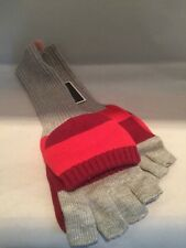 Juicy Couture Pop Top Mittens Gloves Retails $58.00 Grey Multicolored Stripes