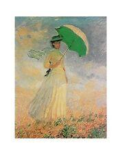 Claude Monet Frau mit Sonnenschirm Poster Kunstdruck Bild 30x24cm - Portofrei