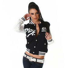 NEW SEXY COLLEGE COLLEGIATE LADIES BASEBALL JACKET ❤ NAVY PLAYERS ❤ SIZE 10 12