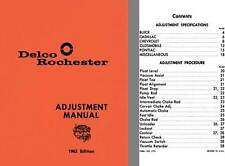 Delco Rochester 1963 - Delco Rochester Adjustment Manual 1963 Edition