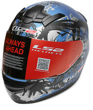 LS2 Helmets - FF352 Phobia - Blue - Full Face Imported Motorcycle Helmet - XL