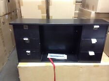 Pottery Barn  Alden Home Office Desk VERTICAL HUTCH Cubby Drawers Black **