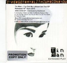 (DJ578) Tin Man, I've Got My Lithium Ion You EP - 2010 DJ CD