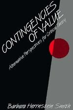 Contingencies of Value: Alternative Perspectives for Critical Theory
