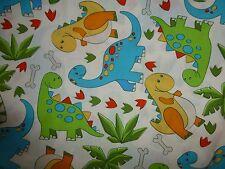 DINOSAUR Fabric Fat Quarter Cotton Craft Quilting KIDS Quilting Treasures