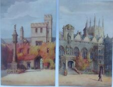 OXFORD, 2 Postcards By J. Allen Shuffrey .