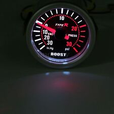 New 52mm 2″ LED Car Auto Turbo Boost Pressure Meter Gauge Smoked Dials Psi + Pob