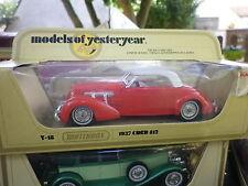 LESNEY MATCHBOX YESTERYEAR Y-18 CORD 812 rouge 1937 de 1978 neuf en boite