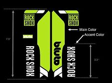 Rock Shox Bluto Replacement Custom Color Decal Kit Fat Bike