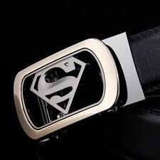 2016 New Mens Leather Belt With Designer Automatic Buckle Superman Casual Formal