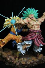 Dragonball Kai Goku 3 VS Broly 3 Battle Scene Resin Statue Diorama NEW