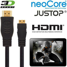 neoCore Elite, JUSTOP Jtouch Android Tablet PC HDMI Mini to HDMI TV 2.5m Cable
