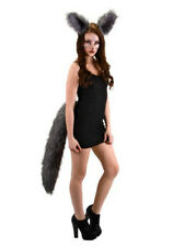 DELUXE OVERSIZED BIG WOLF TAIL ADULT GREY WEREWOLF WOLFMAN ANIMAL COSTUME TAILS