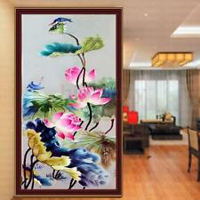 5D Water Lily Flower DIY Diamond Embroidery Painting Cross Stitch Kit Home Decor