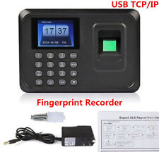USB ID Fingerprint Recorder Work Time Clock Employee Attendence Payroll