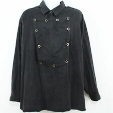 WahMaker Frontier Bib Front Black Western Old West Shirt Size Big 3XL USA Made