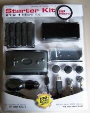 NEW Sealed  21 in 1 Gameboy Micro starter Kit Car Charger, Ear Buds + more