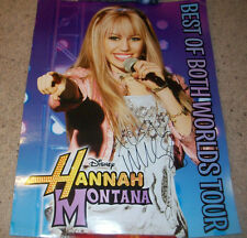 MILEY CYRUS SIGNED HANNAH MONTANA 18x24 CONCERT POSTER w/PROOF AUTOGRAPH
