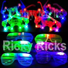 100 PCS Light-Up Star+Shutter Glasses LED Flashing Blinking Shades Raves EDC