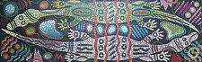 Happy Goanas Australian Aboriginal dot style Acrylic Painting, Canvas 170X49cm