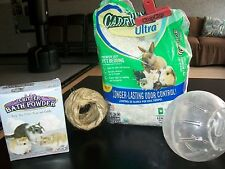 4 Pc Hamster/Gerbil/Mouse/Small Rodent LOT;Bedding,Dry Bath,Exercise Ball,Tunnel