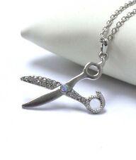 SCISSORS NECKLACE Premier Electro Plating Crystal Stylist Scissors Necklace