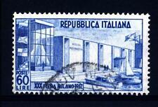 ITALIA REP. - 1952 - 30ª fiera di Milano - 60 L. - Padiglione della motonautica