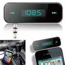 CAR MP3 WIRELESS FM Trasmettitore Radio Mani Libere per Iphone 5 4 S4 S5 Nota 2 3