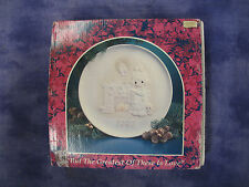 Precious Moments #527742-But Greatest Of These Is Love Plate 1992