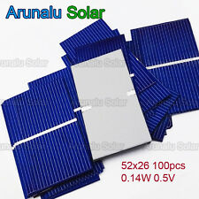 40pcs 52x26mm Solar Cells for DIY Poly Solar Panel Battery Charger High Power