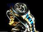 New Invicta Men's 200M Professional Diver Automatic 18K Gold & Blue Ip SS Watch