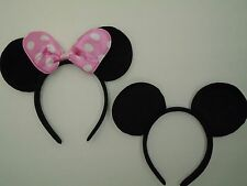 30 LOT Minnie Mouse and Mickey Ears Headband Pink Bow Birthday Party Favors Gift